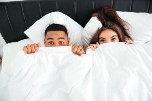 Startseite Paar Bett